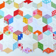 6 Point Diamond Paper Piecing by Pleasant Home, via Flickr