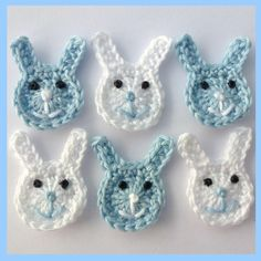 Crochet easter items | Small crochet Easter bunnies - Folksy