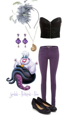 """Disney Inspired Outfit - Ursula"" by jess-loves-tw ❤ liked on Polyvore"