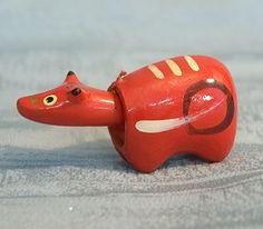 Tiny Vintage Japanese Cow Toy Bobble-head Doll Figure TokaidoSoftypapa