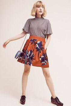 Maira Floral Skirt #anthropologie