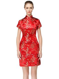 603fbf1b0209 Bitablue Womens Midlength Brocade Dragon and Phoenix Dress 2 >>> You can  get more details by clicking on the image. Fashion & Co · Cheongsam Dress