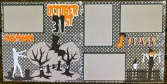 Cricut Crazy Scrapper: October 31st layout (for Exploring Cricut)