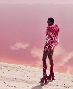 """Harper's Bazaar US December 2016 From Prada's pretty in pink print and Jil Sander's lamé dress, to all-over at Gucci; whether blush rose or bright magenta, pink was a strong feature on the Fall/Winter 2016-2017 catwalks. Live la vie en rose this season as a wave of femininity breaks over fashion. Take a look at @harpersbazaarus as they bring the stunning cover story titled """"Think Pink"""" shot by Daniel Riera featuring model Aamito Lagum styled by Joanna Hillman.  Are you thinking pink after…"""