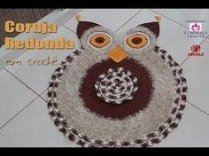 Resultado de imagem para tapete de croche de coruja redonda