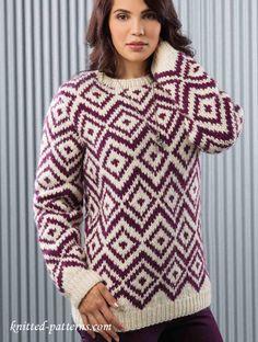Winter pullover knitting pattern free