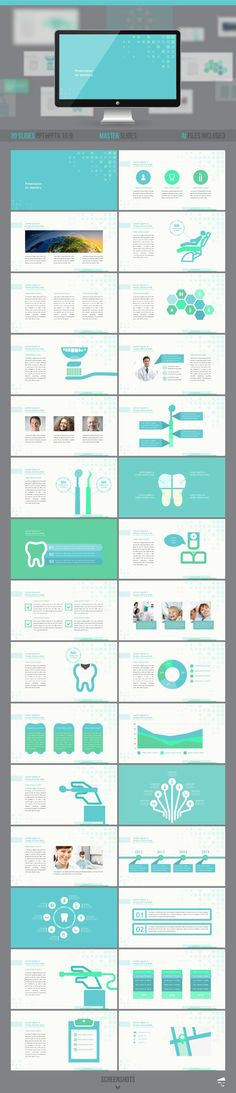Dental Presentation Template #powerpoint #powerpointtemplate #presentation Download: http://graphicriver.net/item/dental-presentation/9709360?ref=ksioks