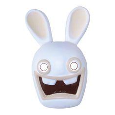 Masque de lapin crétin Blanc
