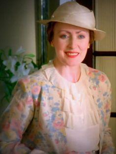 pastel flowers on Miss Lemon