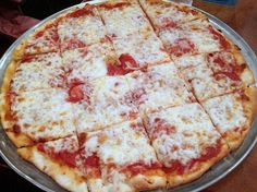 A thin-crust with pepperoni and onion from the Wig & Pen in Ankeny.