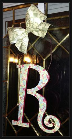 Custom door hanger...accented with pearls