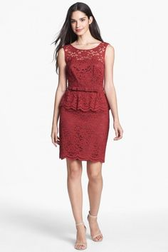 Trina Turk 'Laural' Lace Peplum Dress