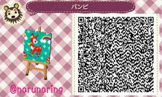 Bambi Pattern Animal Crossing New Leaf Qr Code