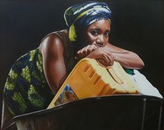 Ghanaian artist Jeremiah Quarshie finds the inspiration for his paintings in his immediate environment. Living and working in Accra, the capital of Ghana, his highly realistic acrylic portraits dep… Capital Of Ghana, Hyper Realistic Paintings, African Art, Black Art, Contemporary Artists, Color, Inspiration, Portraits, Water Time
