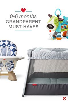Yea! The grandbaby is here! That means you'll want Baby to spend as much time as possible with the grandparents. Make overnights easy for grandparents, Baby and yourself, and have a few baby gear must-haves for Grandma and Grandpa. But, what are those extra essentials you'll want on your Baby Registry? A play yard, highchair, blankets, and toys and books are great starters. You can always add more as they get older and more mobile.