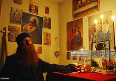 A picture taken on June 2005 shows Romanian Orthodox priest Daniel Petru Corogeanu, who was later sentenced to seven years in prison for causing the death of Irina Cornici during an exorcism. Orthodox Priest, Romania, True Stories, Prison, Remote, June, Death, Movie, Poses