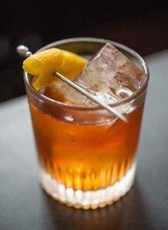 Natoma St.: Amontillado Sherry, Gran Classico, Dry Vermouth, Lemon Twist.