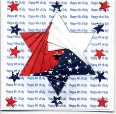 vikki posted iris folding for a of July star. to their -quilting fever- postboard via the Juxtapost bookmarklet. Iris Folding Templates, Iris Paper Folding, Iris Folding Pattern, Origami Folding, Envelope Templates, Paper Cards, Folded Cards, Pliage D'iris, Paper Folding Techniques