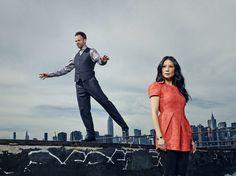 Sherlock and Joan -- CBS promo photo.  #Elementary