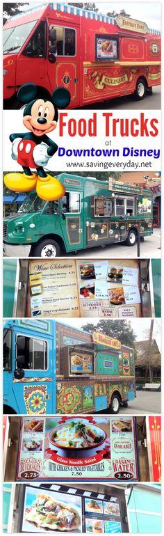 Food trucks @ Downtown Disney - Fun new way to dine when visiting Downtown Disney/Disney Springs