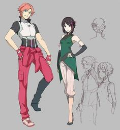 RWBY Nora and ren - COSPLAY IS BAEEE! Tap the pin now to grab yourself some BAE Cosplay leggings and shirts! From super hero fitness leggings, super hero fitness shirts, and so much more that wil make you say YASSS! Rwby Fanart, Rwby Genderbend, Rwby Anime, Rwby Ren, Nora Rwby, Character Design Challenge, Character Design Inspiration, Geeks, Nora Valkyrie