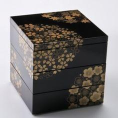 北市漆器店 花丸春秋5.0三段重 溜