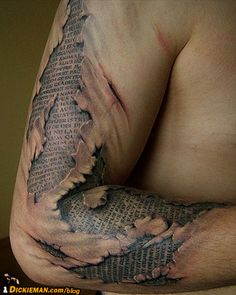 .Talk about the living word of God inside of you! It looks like that's what this guy's made of!  Scriptures #tattoos
