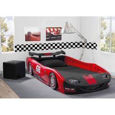 $199.00 WalMart https://www.walmart.com/ip/Delta-Children-Turbo-Race-Car-Twin-Bed-Choose-Your-Color/53322295