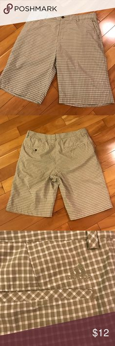 Adidas Shorts Very light shorts. Great for sports. Size 34. Tan and white color. Used only twice. Adidas Shorts Athletic