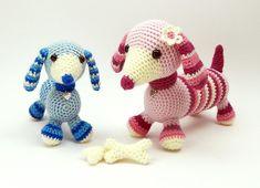 Daisy and Duke the Dachshunds Amigurumi Crochet Pattern