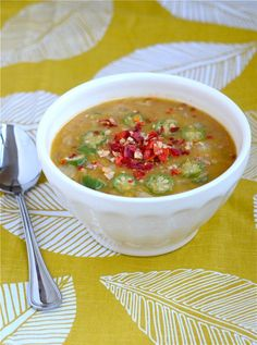 Red Lentil Soup with Okra - recommended by Nourish and Revive, NW Holistic Health and Nutrition for the 21-Day Purification/Detox Program