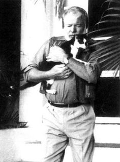 Hemmingway and his favorite cat Boisie .