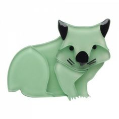 Erstwilder - Wary Warri Wombat (Mint Resin Brooch)