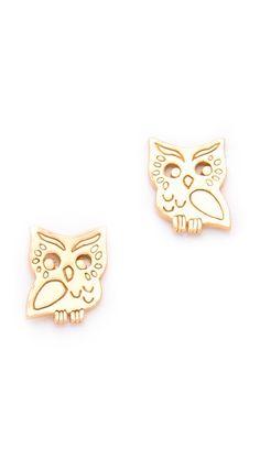 Aww These Gorjana Stegic Owl Stud Earrings Are So Cute