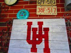 University Of Houston Rustic Sign. $28.00, via Etsy.