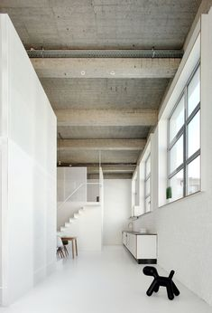 279e9147df Loft apartment with super-thin staircases by adn Architectures Space  Architecture