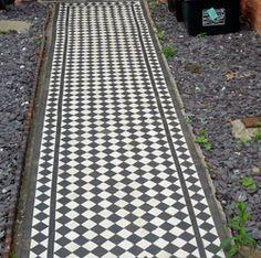 Classic Victorian tile path