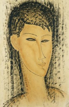 ...Head Of A Young Women Painting , Modigliani
