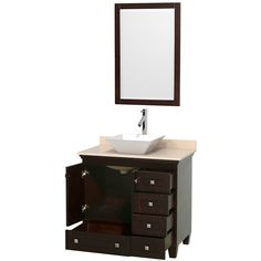 Open Vanity View with Mirror