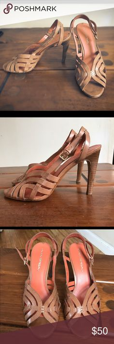 Via Spiga Heels 💛 Worn a few times. Still in great condition. Only signs of wear are the mark on the back of the left heel and on back of foot pad. Barely noticeable. Gorgeous spring heel! Via Spiga Shoes Heels