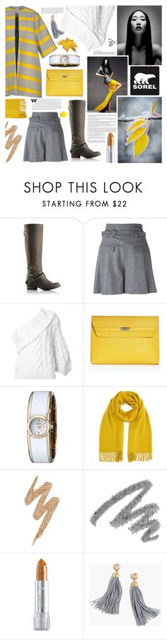 """""""Tame Winter with SOREL: Contest Entry"""" by kumi-chan ❤ liked on Polyvore featuring Hasselblad, SOREL, Stella Jean, Diane Von Furstenberg, Rosie Assoulin, Boohoo, Caravelle by Bulova, Miss Selfridge, Urban Decay and Yves Saint Laurent"""