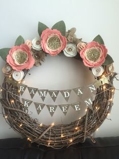 The Holy Month of Ramadan has reached to the end. It's time to decorate your home to welcome Eid! Remember the time when you used to be all excited about Eid? Let's bring the excitement back! Eid Ramadan, Ramadan Gifts, Ramadan Mubarak, Eid Crafts, Diy And Crafts, Decoraciones Eid, Islamic Events, Diy Wreath, Wreaths