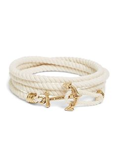 Kiel James Patrick Lanyard Hitch Cord Bracelet Natural - summer jewelry and gift for my fav DGs!