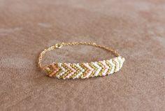 // woven chevron gold bracelet