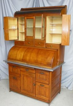 Antique Bakers Cabinet | F844C Antique Bakers Kitchen Cabinet - Springfield