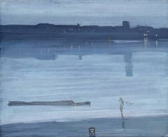 James Abbott McNeill Whistler Nocturne: Blue and Silver - Chelsea 1871
