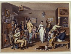 American Country Music History   Dance in a Country Tavern, after John Lewis Krimmel's Country Frolic ...