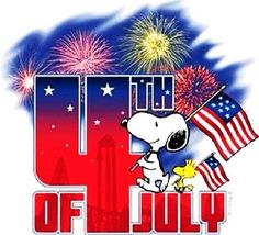It's 4th of July Charlie Brown as Snoopy and Woodstock enjoy the fireworks…