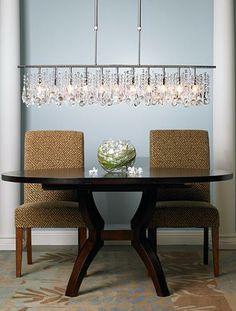 Transitional dining room decor.