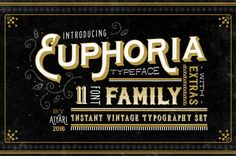Euphoria Font Family- 50% Off by Aiyari on @creativemarket